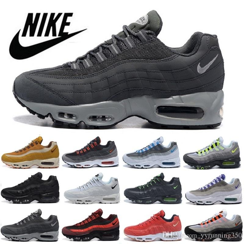 more photos db2c8 35da8 Compre 2018 Hombres 95 OG Cushion Navy Sport Alta Calidad Chaussure 95s  Walking Boots Hombres Casual Shoes Cushion 95 Sneakers Talla 40 46 A  69.04  Del ...