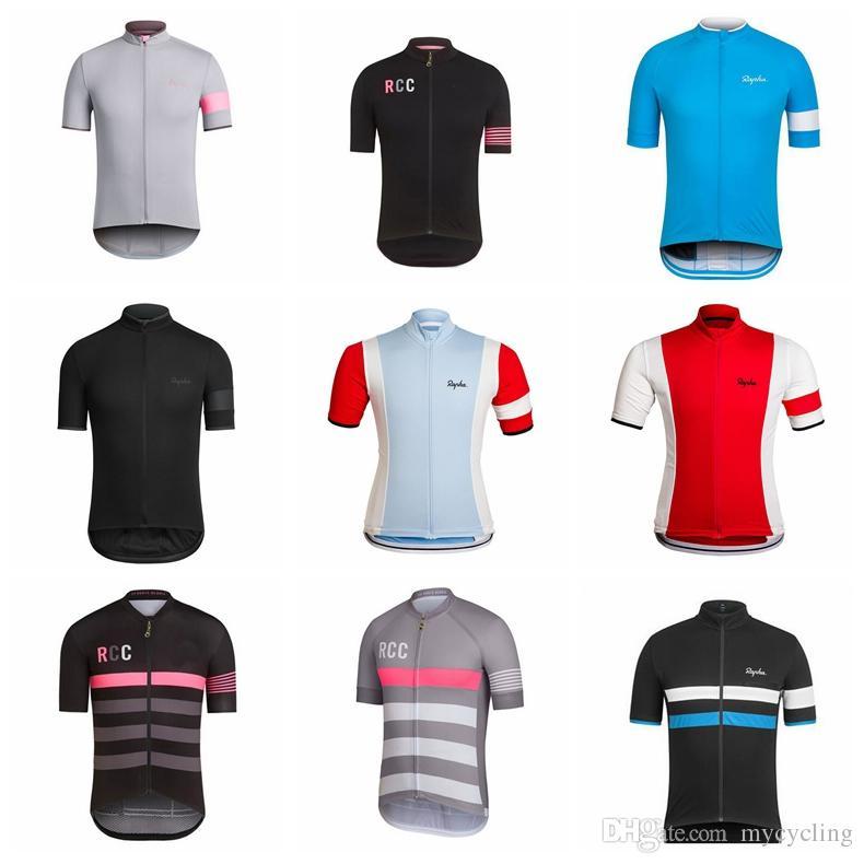 Men Rapha Summer Cycling Jersey Short Sleeve Jersey