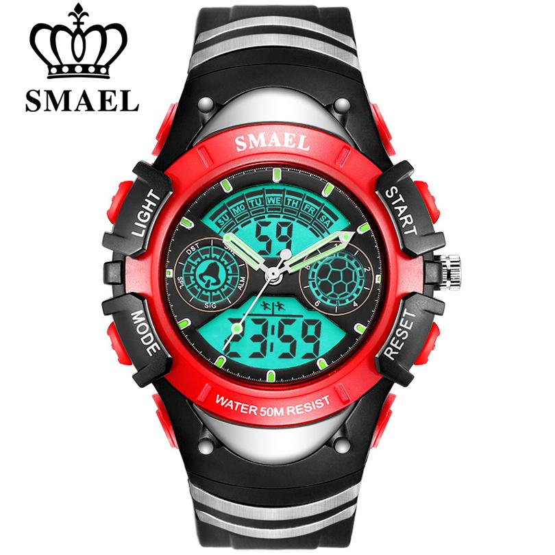 79646a7afb5 SMAEL Brands Children Digital Sports Watch 50M Water Resistant Wrist  Watches Children Mother s Choice Boys Girl Gift 4-13 Years old Kids