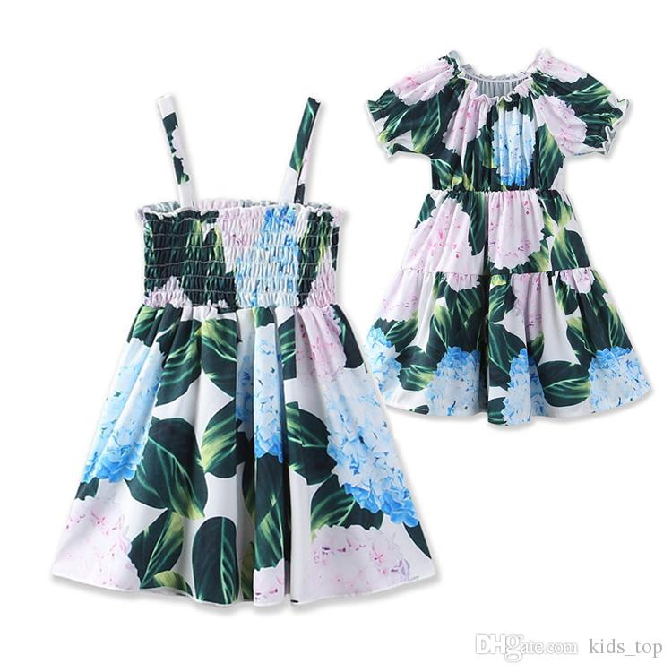eab0d1f2a2f Girls Dresses 2 7y Old Baby Girls Summer Clothing Bohemian Style Flower  Girl Dresses 2 Designs Princess Dress Kids Clothing LA672 2 UK 2019 From  Kids top