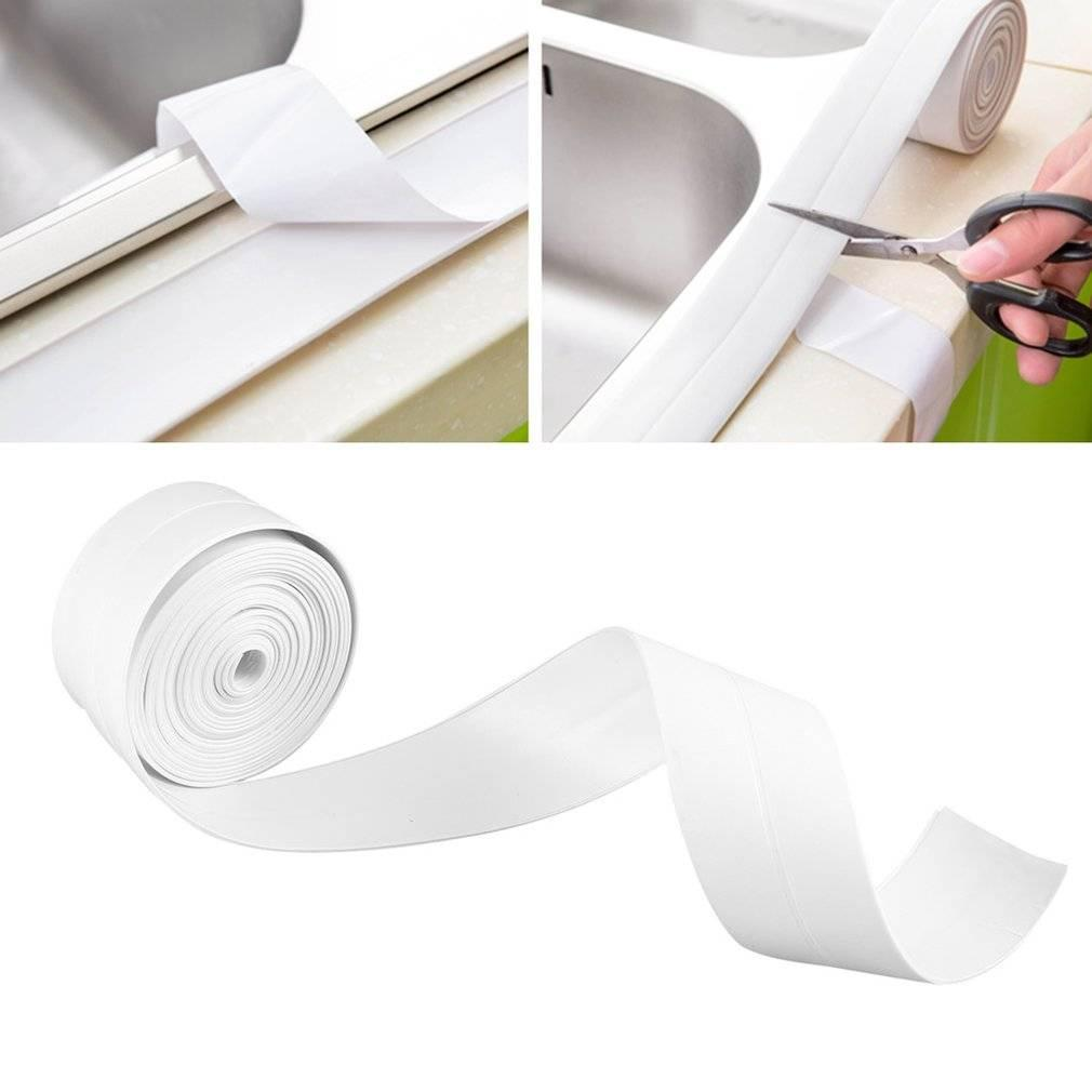2018 New 3.4m 38mm White Mildewproof Sealing Sealant Strip Tape For ...
