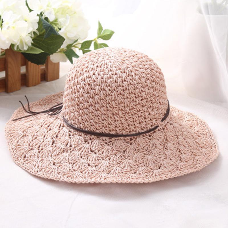 03c9beba1d4 FLYBER Summer 2018 Straw Sun Hats for Women Weaving Design Fold ...