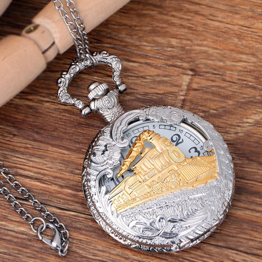 7a842a4f01d4 Compre Reloj De Bolsillo Vintage Steam Train Antique Cadena Cuarzo  Locomotora Colgante Reloj De Bolsillo Regalo Reloj Bolsillo A  39.13 Del  Watchoutmate ...