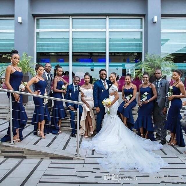2018 Nuevo Africano Romántico Fuera del Hombro Sirena Vestidos de Novia de Encaje Sexy Apliques Con Cuentas Más Tamaño Vestidos de Novia Tulle Court
