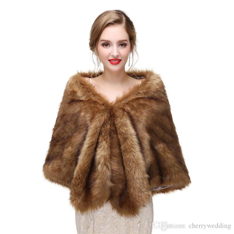 CMS02 High quality faux fur bridal wrap, Bridal Wraps Elegant Boleros Shrugs perfect for brides, bridesmaids and events wears