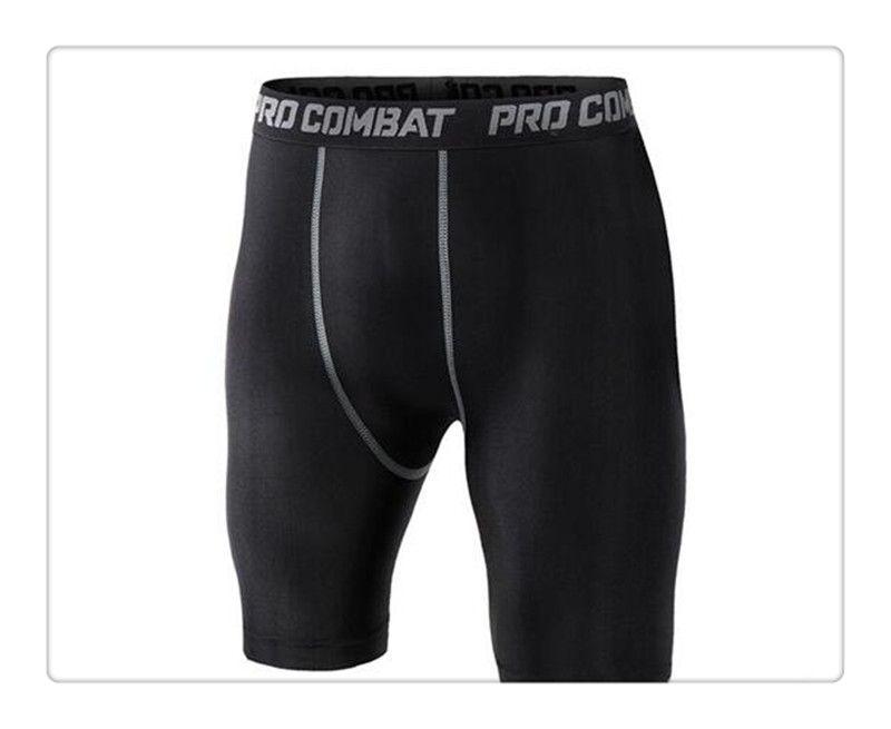 Hot Bike Shorts Hommes Lycra Compression Collants Base Layer Sous-vêtements Shorts.cycling Running.box Football Soccer Basketball Noir