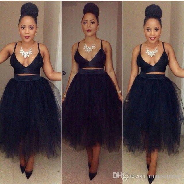 10ee393bdc2 2019 Black Purple Pleat Tulle Skirts For Women Fixed Satin Waist Tea Length  Midi Maxi Skirts Plus Size Petticoat Party Skirts From Mansaphair