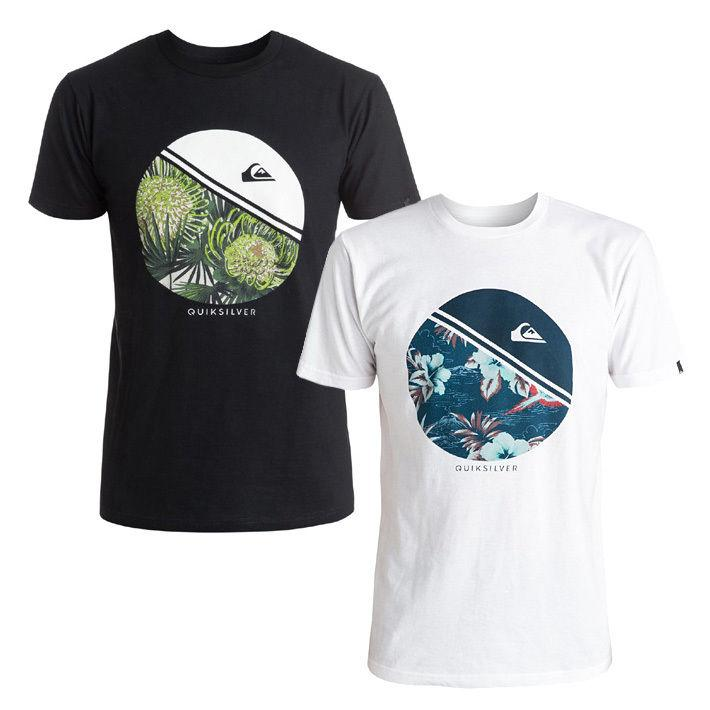 QUIKSILVER T-Shirt Herren Free Wheelin Skate Surf polo tee logo quiksilver  - NEU