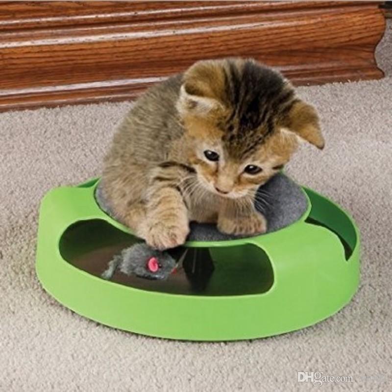 Kunststoff Fangen Die Maus Spielzeug Grune Runde Bewegung Katze Spielzeug Neuheit Lustige Katze Plattenspieler Neue Ankunft 9 3xy B