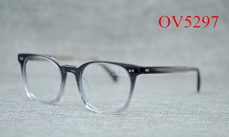 a2c8284390b2 2019 OV5297 Retro Square Eyeglass Frames For Men And Women Brands Optical  Myopia Prescription Glasses Frames From Kuchairly