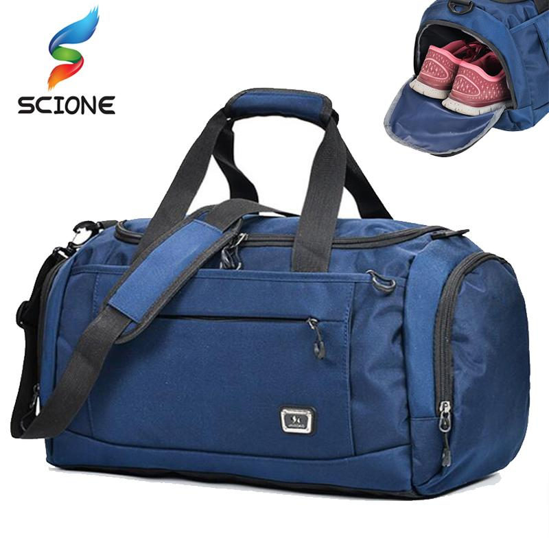 2019 2018 Hot Top Nylon Outdoor Unisex Portable Waterproof Sports Gym Bags  Professional Men And Women Large Capacity Gym Training Bag From Godefery aaf0f45851bc3