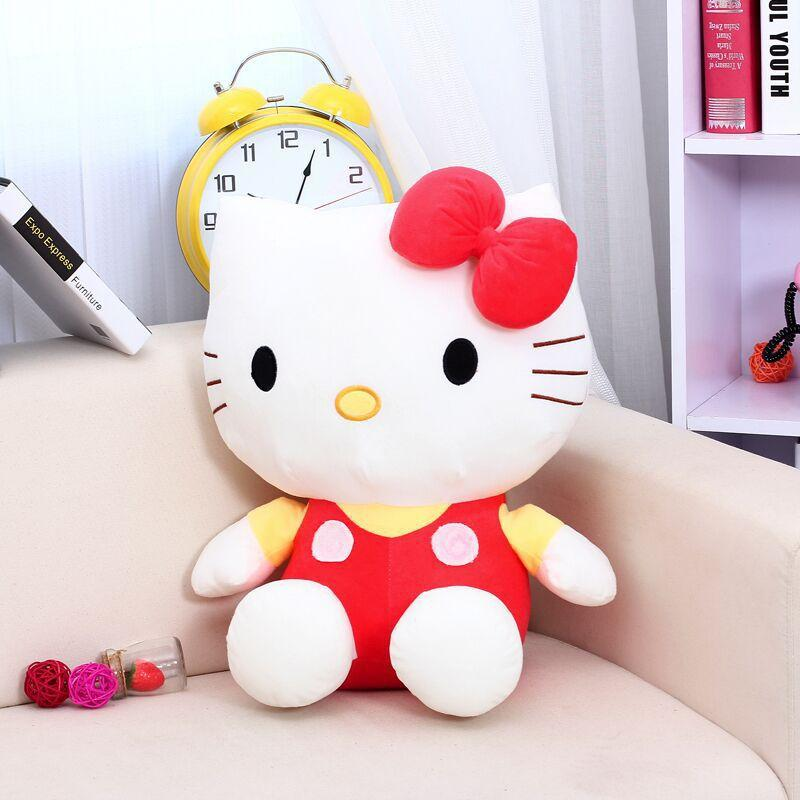d464ea5672c 2019 Large Size Hello Kitty Brinquedos Stuffed Toys High Quality Plush Toys  Hello Kitty Doll For Girls Polka Dot Child Gift From Henryk