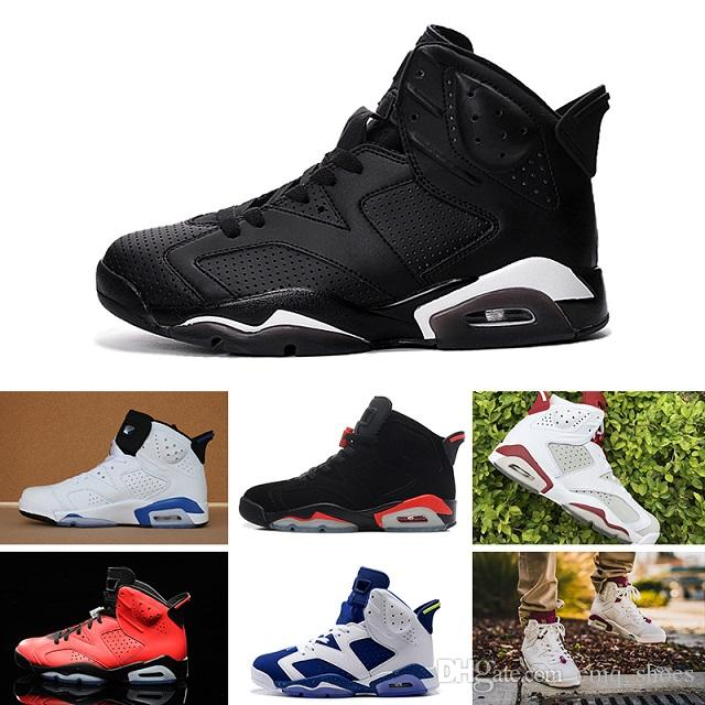 c01ffd36859619 6 Carmine Basketball Shoes Classic 6s Black Blue White Infrared Low ...