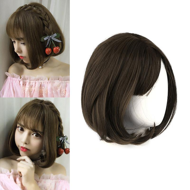 Brand New Light Brown Korean Style Full Lace Human Short Hair Wigs