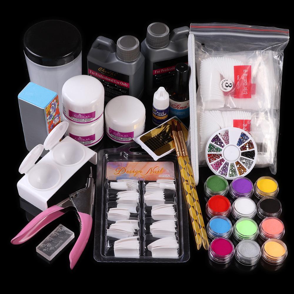 Wholesale Nail Art Acrylic Liquid Powder Top Coat Brush Glue ...
