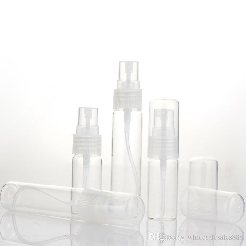 100 adet / grup Temizle 5 ml 10 ml 1/6 oz Cam Atomizer şişe Sprey Doldurulabilir Parfüm Boş Şişe Cam Temiz Bez Seyahat Parti için Must ...
