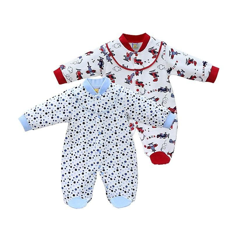 8103571fb 2018 Little Q Long Sleeve Baby Pure Cotton Clothes Newborn Spring ...