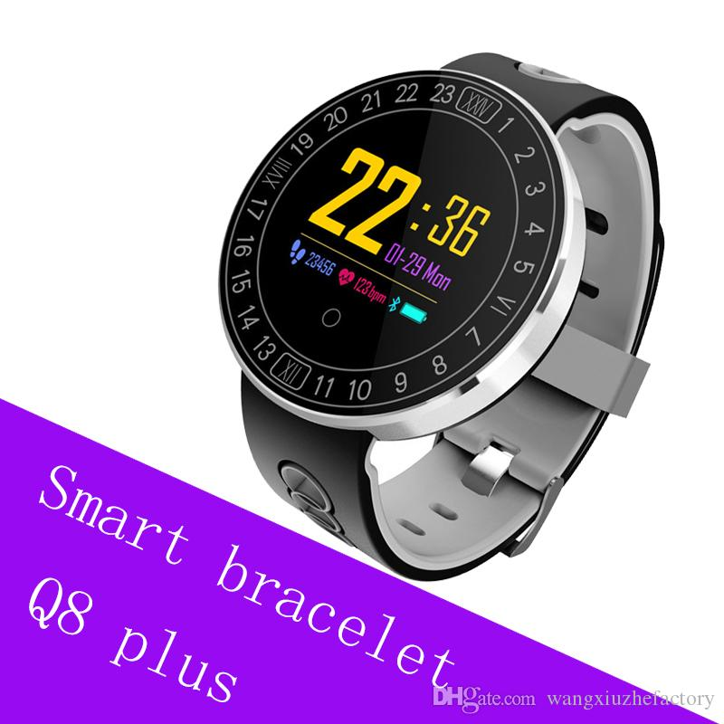 Q8 Plus Fitness Tracker Smart bracelet Blood Pressure Heart Rate Sleep  Camera remote Oxygen Monitor Smart Wristband Bracelet
