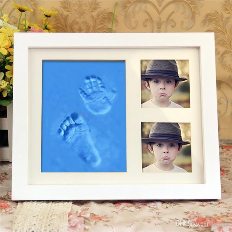 2019 Diy Handprint Footprint Cute Baby Photo Frame Soft Air Drying