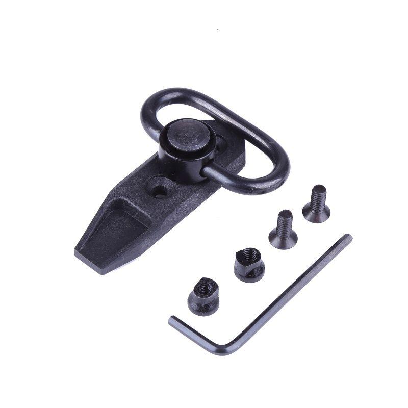Universal Tactical KeyMod Direct Desmontaje rápido Sling Swivel 360 Grados Rotación Hunting Sling Swivel Adaptador de montaje Adaptador