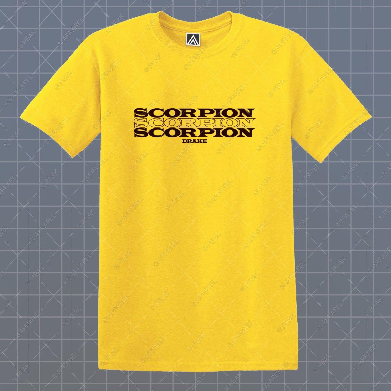 aa23f5767c3ed2 Details Zu Scorpion T Shirt Keke Ovo Drake Views Tee Woes God Plan Upset  Feelings Logo Top Funny Unisex Casual Gift Cool T Shirts For Men Cheap Tee  Shirts ...