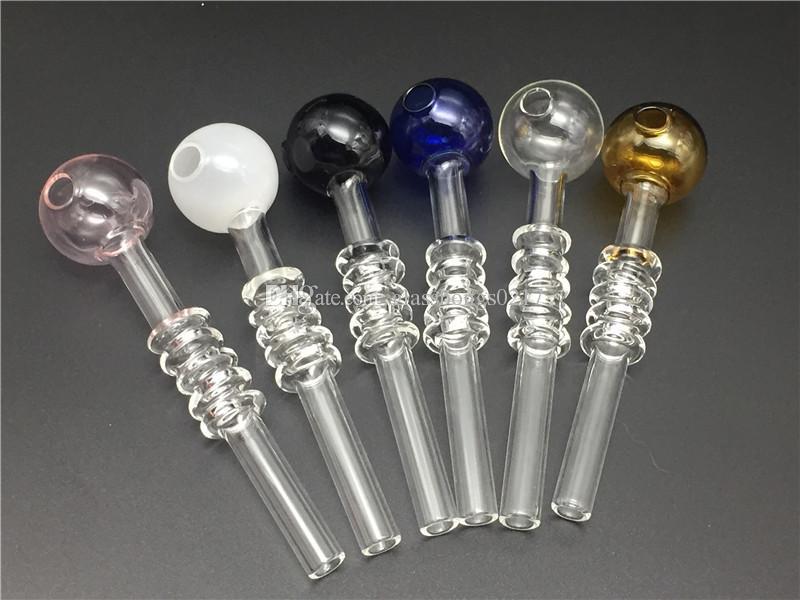 Yeni Pyrex Cam Yağı Burner Boru renk Gözlük Tüp Cam Boru Yağı Nail için cam bong
