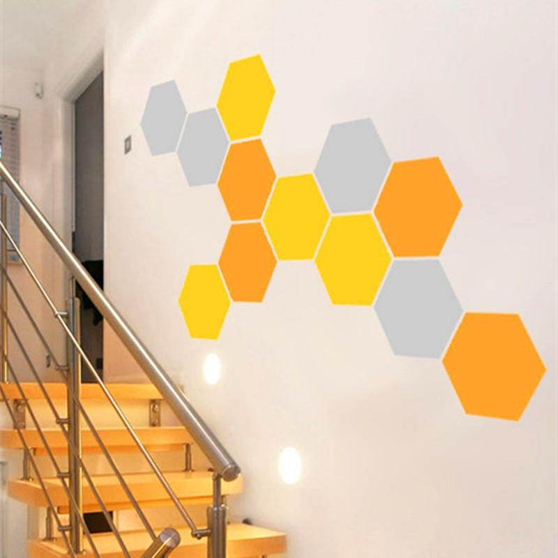 12 Honeycomb Wall Decal Geometric Hexagons Vinyl Wall Stickers Home ...