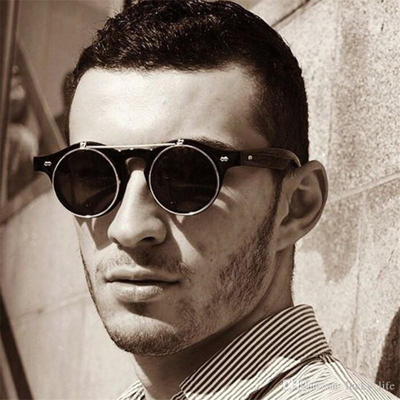 8c3ecf6ef9 Fashion Retro Vintage Styles 1950s Men Women Sunglasses Sun Glasses Flip Up  Cyber Round Goggles Glasses Foster Grant Sunglasses Spitfire Sunglasses From  ...