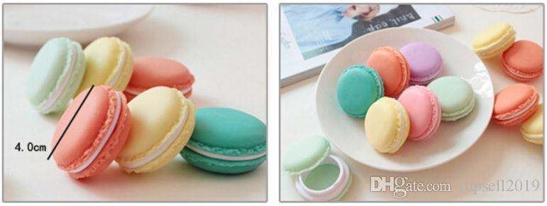 Cute candy color Macaron storage box jewelry Packaging Display pill case organizer home decoration gift 4*2cm SN180