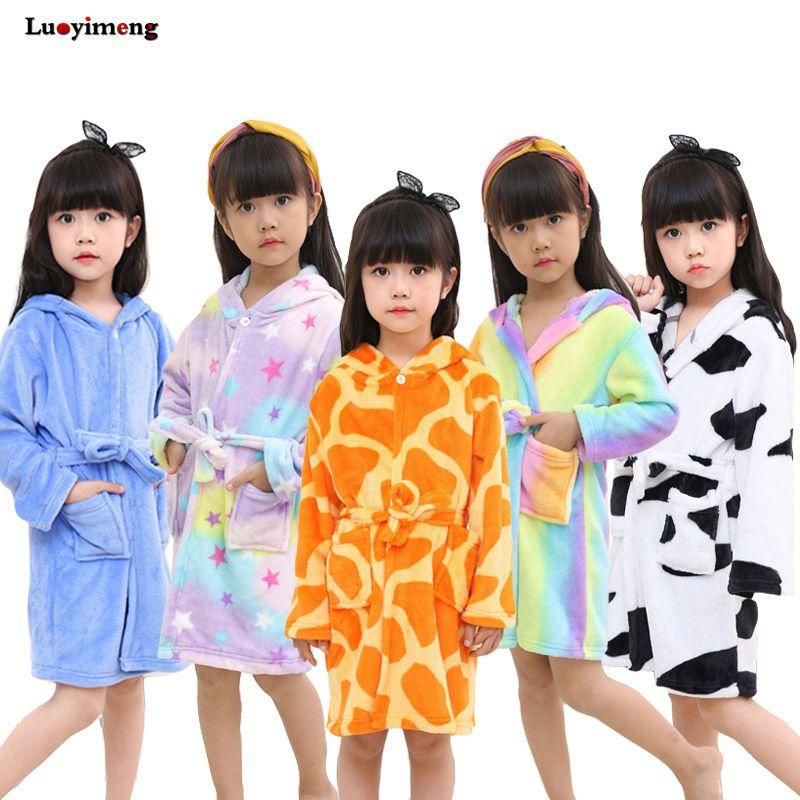 bc278a7b35 Children S Bathrobe Kigurumi Baby Robes Pajamas Kids Dressing Gown Cartoon  Hooded Towel Sleepwear For Boys Girls Infant Robe Christmas Pyjamas For  Girls ...