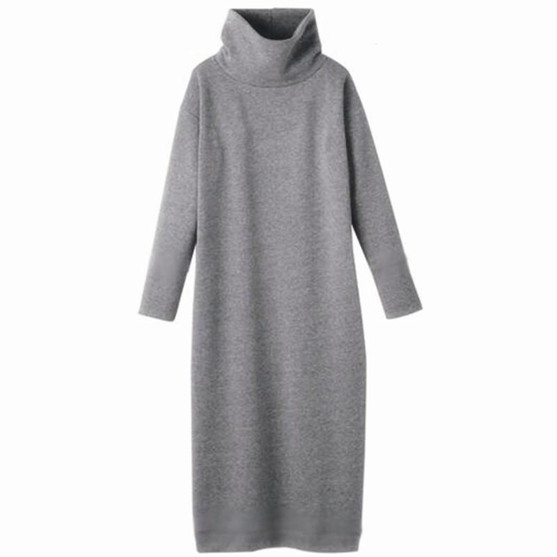 bf220070790 2019 2018 Women Autumn Winter Sweater Dresses Turtleneck Sexy Bodycon Long  Thickening Warm Dress Plus Size Dress S 5XL 6XL Vestidos From Vineger