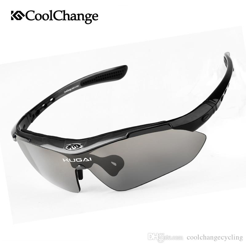 f0777982dfe CoolChange Professional Polarized Cycling Glasses Bike Goggles Outdoor  Sports Bicycle Sunglasses With 5 Lens Myopia Frame Online with  17.96 Piece  on ...