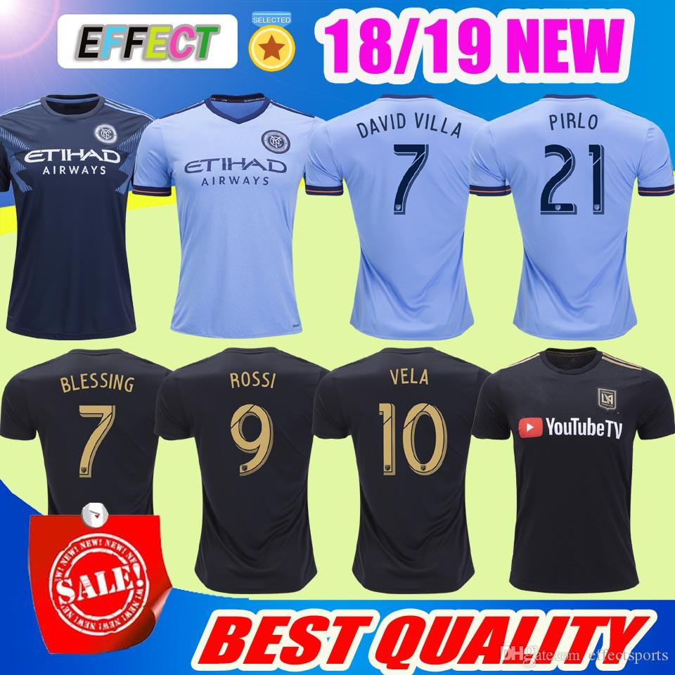 d8929a4f429 2019 NEW 18/19 LAFC Soccer Jersey 2018 BLESSING ROSSI FEILHABER Parley  Jersey MEDINA MORALEZ MATARRITA LOS ANGELES LAFC VELA 10# Footbal Shirts  From ...