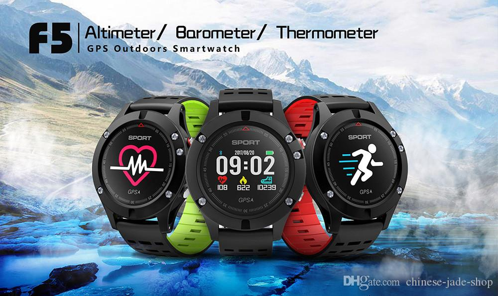 F5 Smart Watch IP67 Heart Rate Monitor GPS Multi-Sport Mode OLED Altimeter Bluetooth Fitness Tracker Android iOS waterproof 1pc/lot