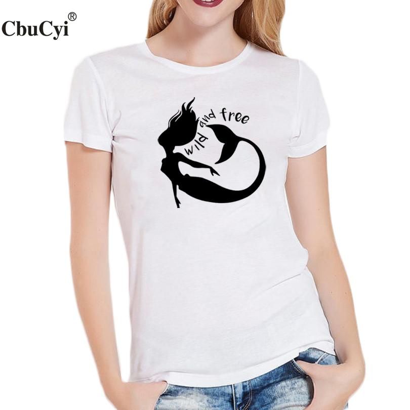 e80a548c09ed Women S Tee Wild And Free Slogan T Shirt Tumblr Hipster Graphic Tees Women  Clothes 2017 Summer Fashion Tops Women T Shirt Vintage T Shirt Cute T Shirts  From ...