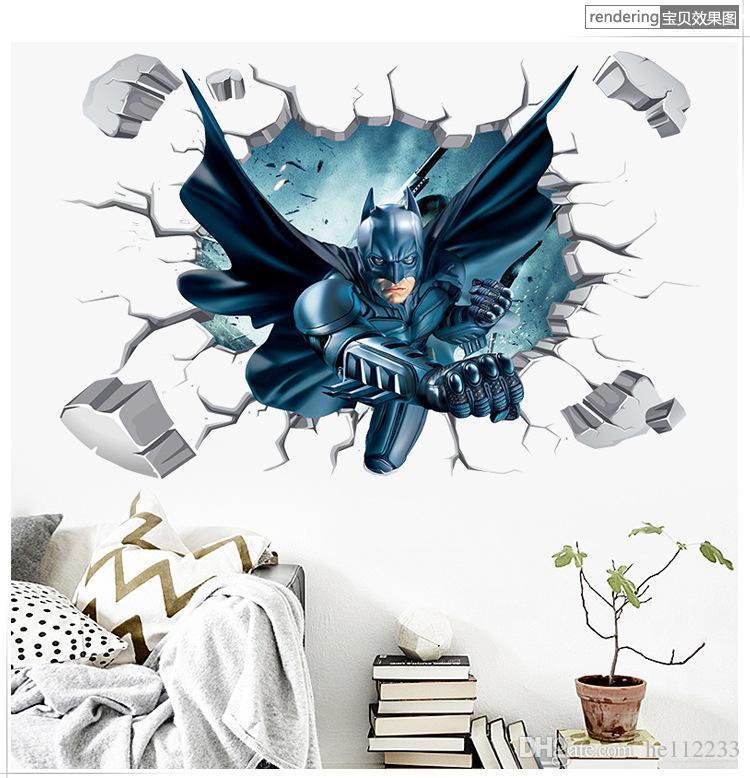 Мститель синий сон мультфильм 3D наклейки на стены обои ПВХ водонепроницаемый может быть съемным настенные росписи Спальня Гостиная фон украшения