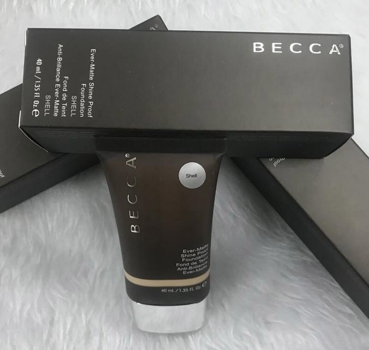 NOVO venda quente da composição Becca Fundação Já Matte engraxar os Proof Foundation Areia e Shell Creme BB