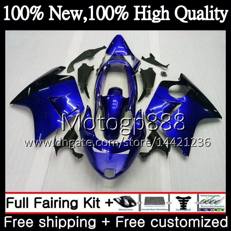 Обтекатель кузова для HONDA Blackbird CBR1100 XX 02 03 04 05 06 07 53PG16 CBR1100XX CBR 1100XX 2002 2003 2004 Blue black 2005 2006 2007