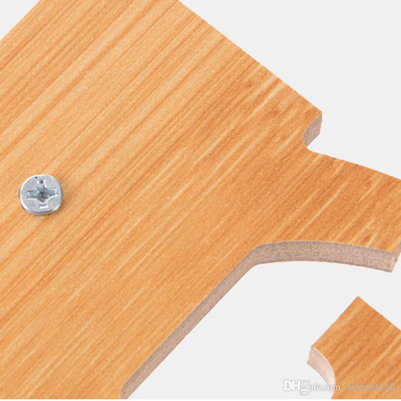New Self Adhesive wood Hook shelf Wall Door Clothes Coat Hat Hanger organizer Kitchen Bathroom Towel holder Hooks storage rack LZ1609