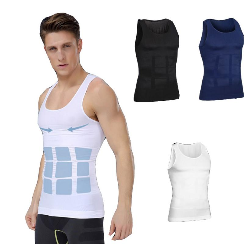 1318fec7234 2019 High Quality Men Body Shaper Vest Shapewear Slimming Waist And Tummy  Control Shaper Belt Underwear From Salom