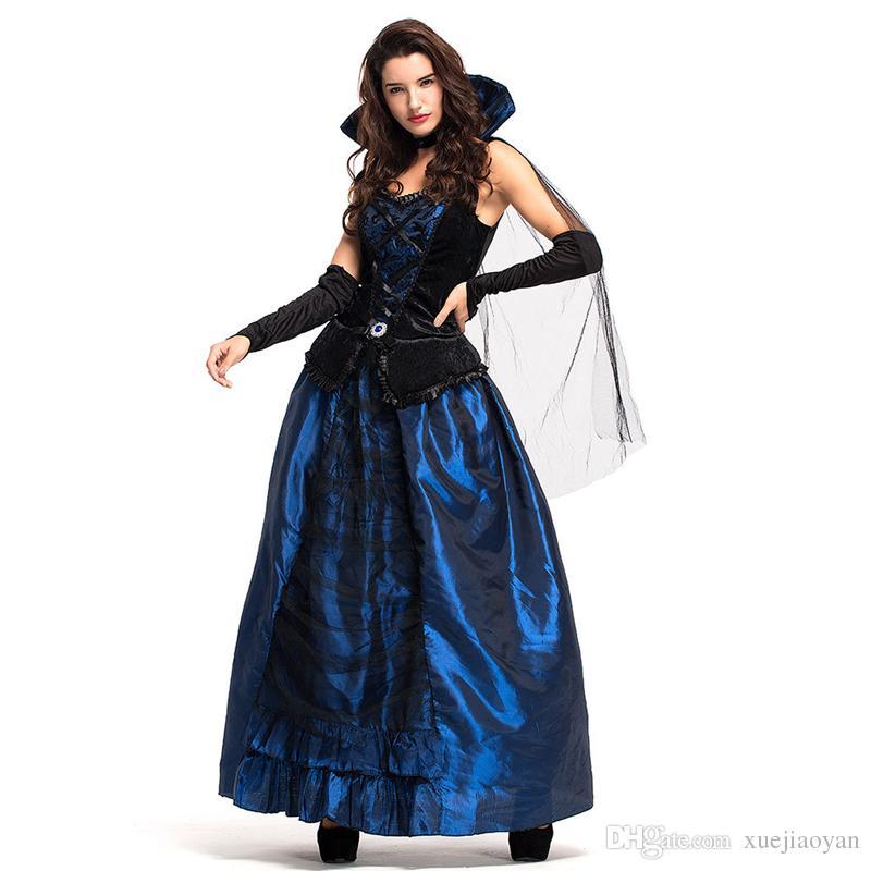 2018 halloween costumes women gothic vampiress midnight robe cosplay party 2018 halloween costumes woman gothic vampire halloween online with 3115piece
