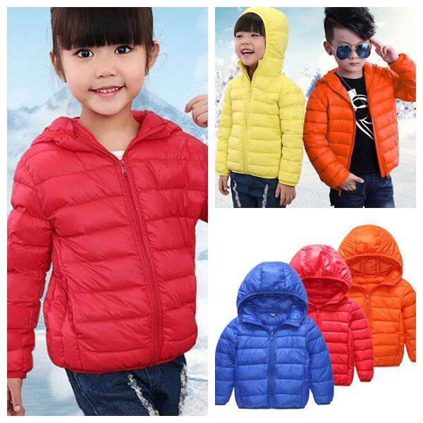 53fbcb05b11e Warm Children Winter Jackets Kids Outerwear Teenage Hooded Solid ...