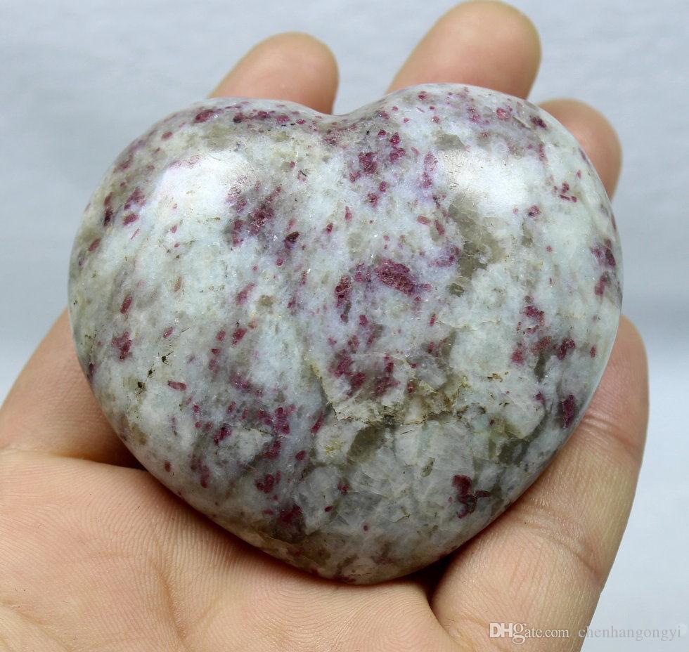 150g NATURAL RARE Rose Tourmaline QUARTZ CRYSTAL Sphere Heart HEALING