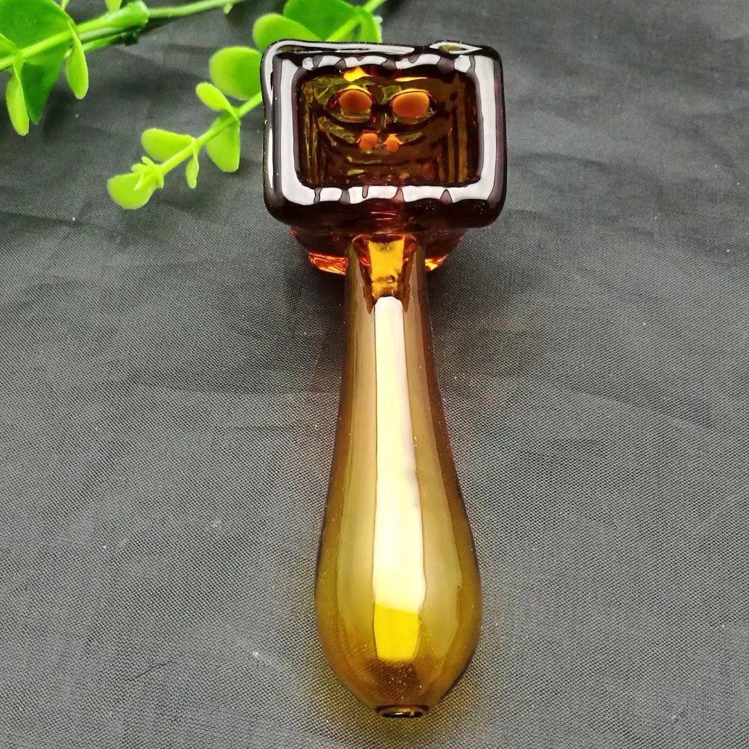 Ambra vetro barile accessori Yanju, bong di vetro all'ingrosso Oil Burner tubi di acqua Tubi di vetro tubo di olio Rigs fumatori, trasporto libero