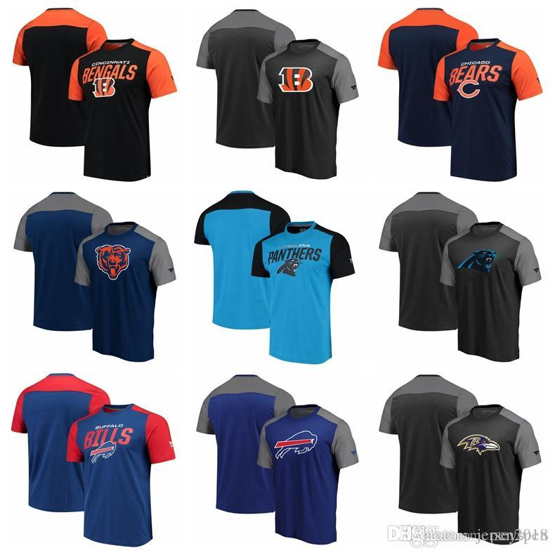 brand new 8d1a7 2bf26 Color block Cincinnati Bengals Chicago Bears Carolina Panthers Buffalo  Bills Pro Line by Fanatics Branded Iconic Color Blocked T-Shirt