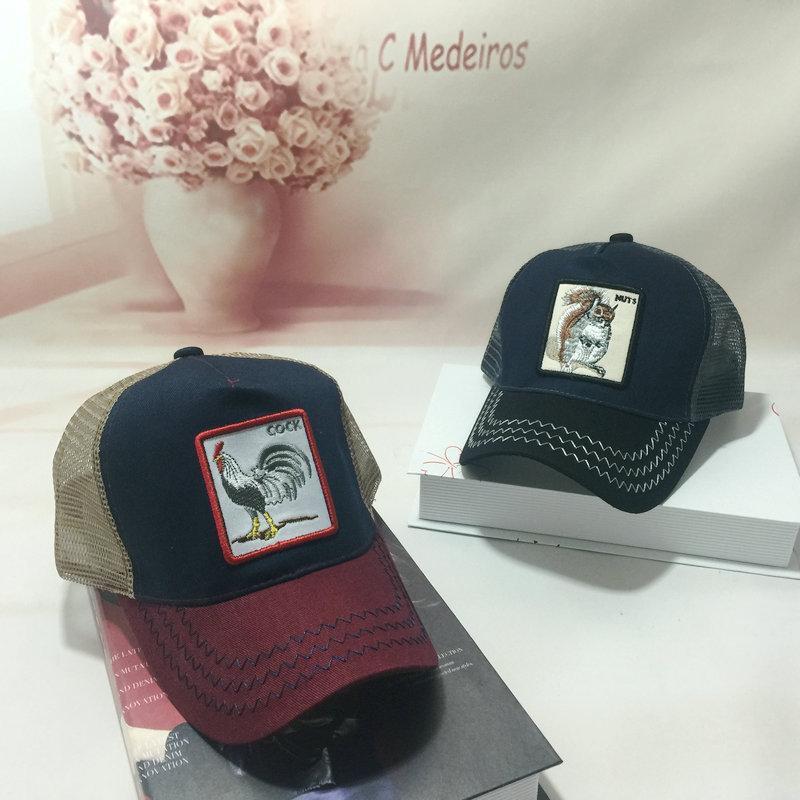 3c97330e0726f 2018 Embroidery Animal Caps Fashion Hip Hop Hat Breathable Mesh ...