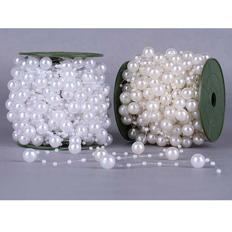 High Quality Fishing Line Pearls Beads Chain Garland Flowers Wedding Party Decoration DIY crafts birthday accessories