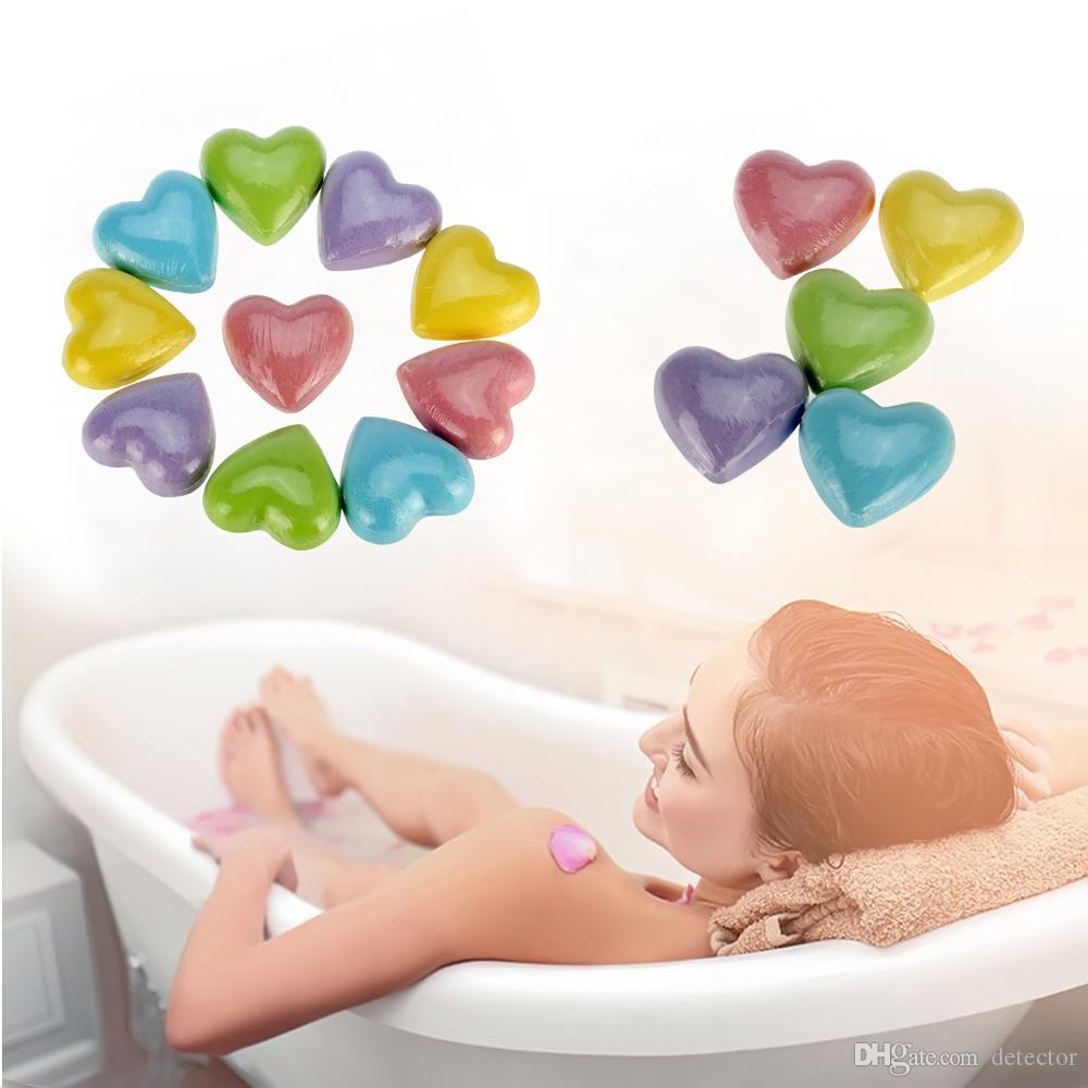 t Heart Floral Sea salt Bath ball Aroma Bath Salt Ball Female Moisturizing Skin Care Cleansing Bubble Bath Salts Ball