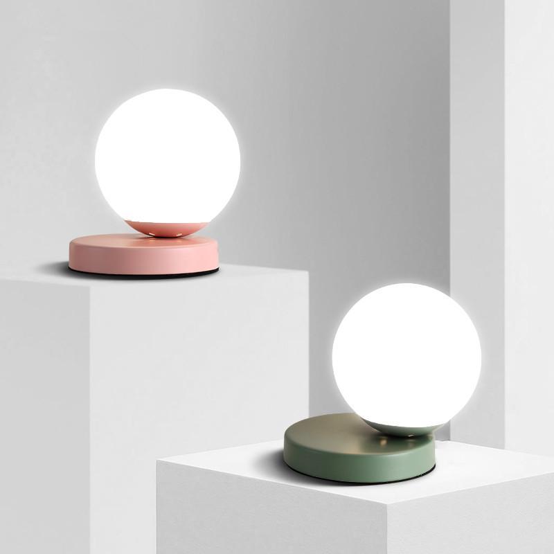 Acheter Lampes De Table Modernes Globe Verre Lampe De Bureau Chambre