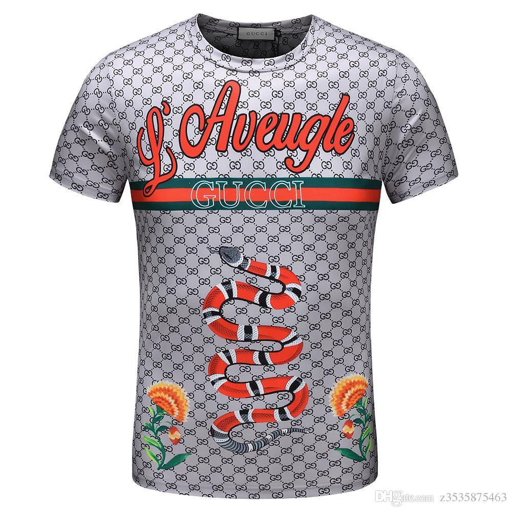 sehr bekannt neueste kaufen am besten authentisch Modemarke 2019 Herren- und Damen-T-Shirts, bedruckt mit den neuen  schlangenförmigen Herren- und Damenblusen, versandkostenfrei